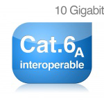 Cat 6<sub>A</sub> interoperabilné komponenty