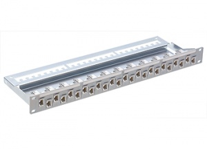 "R&M patch panel 19"" 1U kovový, Cat.5E, osadený s 24xR925370"