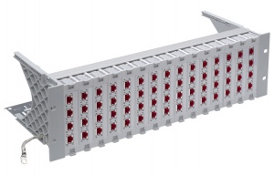 "R&M patch panel 19"" 3U, Cat.6A, osadený s 60xR509504"